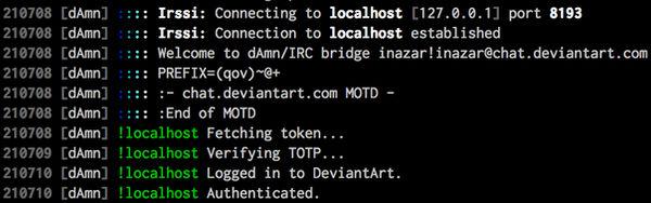 PHP dAmn-IRC Bridge, unfinished