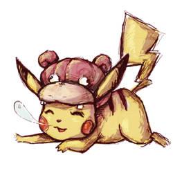 Pikachou ! Pikachu Slowpoke
