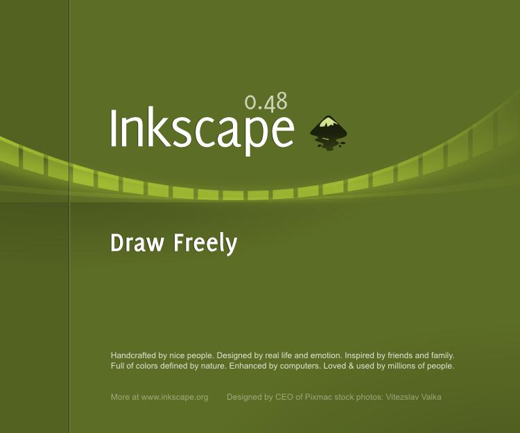Inkscape 0.48 Splash Screen by nikdo-org