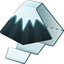 Inkscape icon 512x512px with alpha transparency