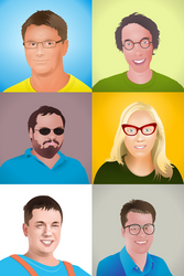 Illustrated Avatar from Photo by nikdo-org