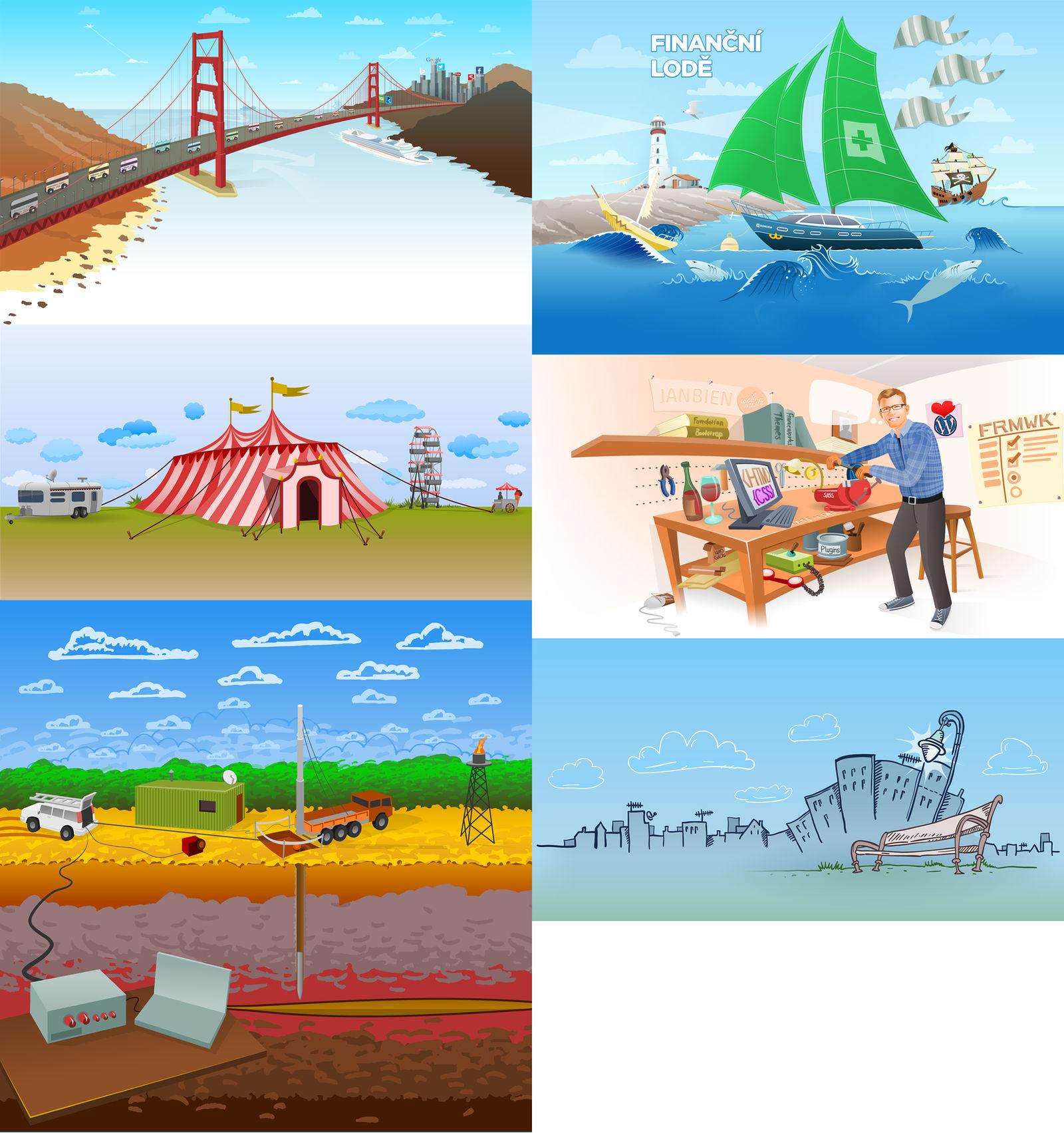 Illustrated Website Motif by nikdo-org
