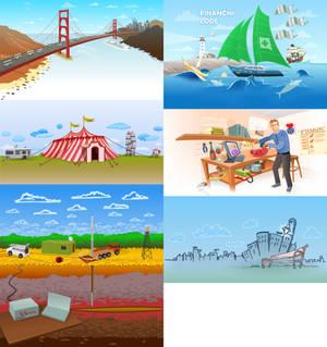 Illustrated Website Motif