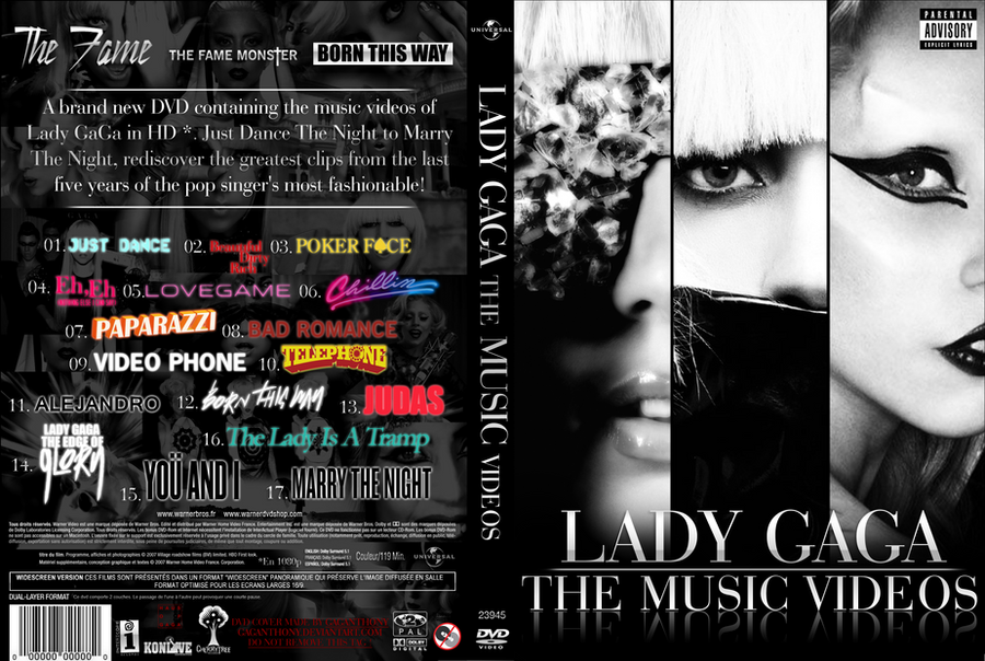Lady GaGa - The Music Videos DVD COVER by GaGanthony