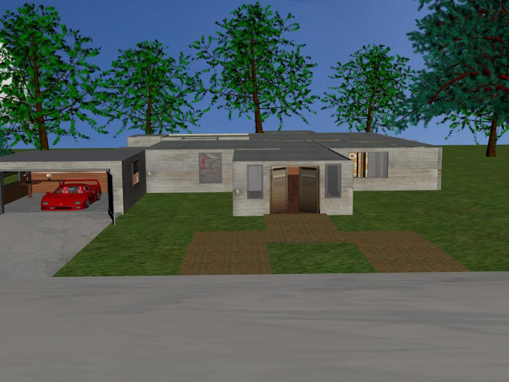 My 3d House Front By Aj Anba17 On Deviantart