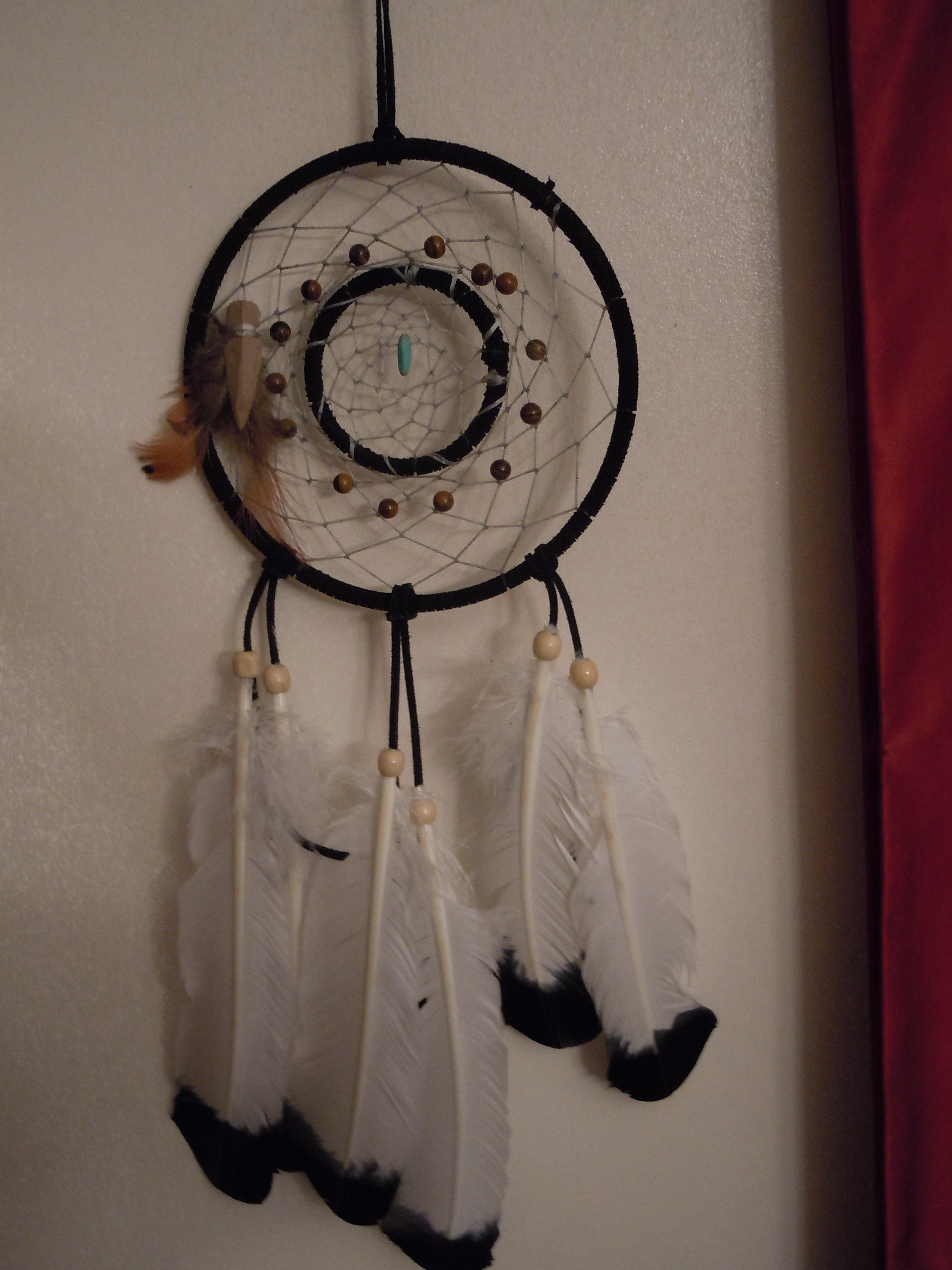 Double ring dream catcher by aj anba17 on deviantart for How to make a double ring dreamcatcher