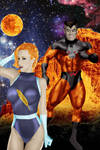 Legion of Super-Heroes:Timber Wolf and Light Lass
