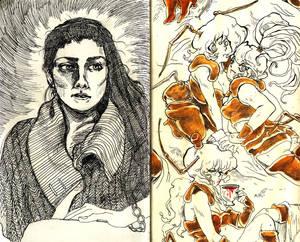 Sketchbook project spread