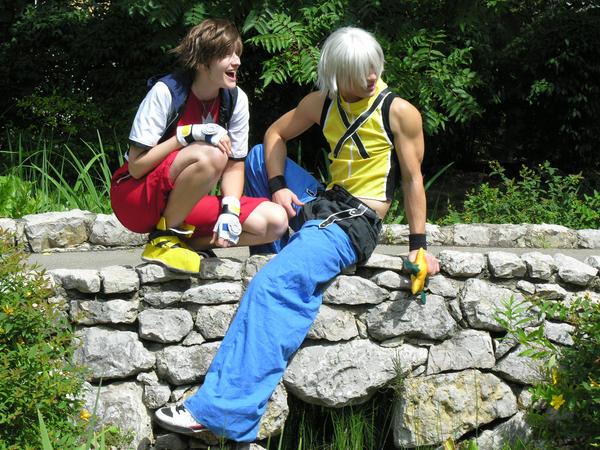 Riku - Whats so funny Sora ? by Zack-Fair-7