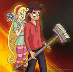 Star vs The Forces of Evil in TimBurton style