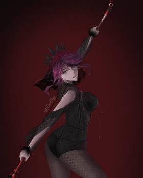 [FANART] Rosaria Black Dress