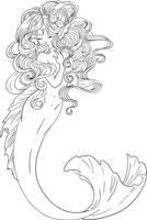 Lineart for Mermaid by ShyniMoonStar