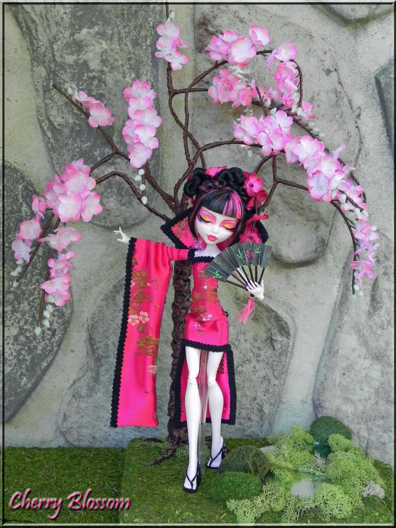 Cherry blossom ooak fantasy monster high doll by kriskreations on deviantart - Monster high noel ...