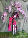 Cherry Blossom OOAK Fantasy Monster High doll