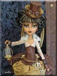 Camilla- Custom OOAK Steampunk time traveler by KrisKreations
