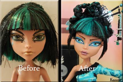 Kazumi- before and after by KrisKreations