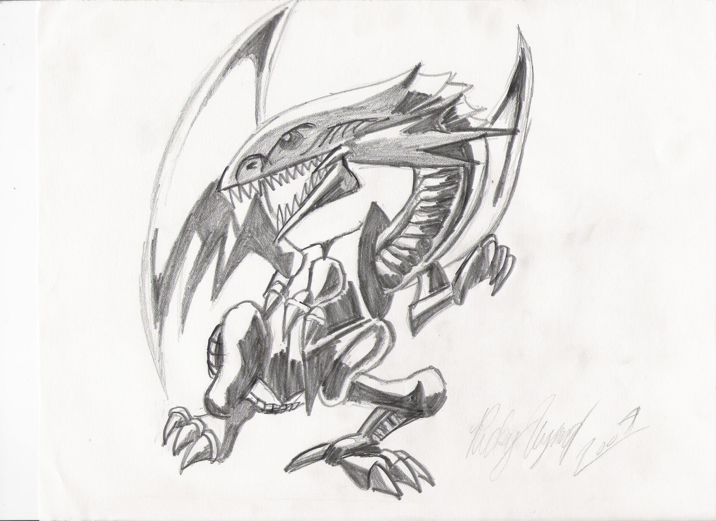 blue eyes white dragon by bloodlustbakura on deviantart