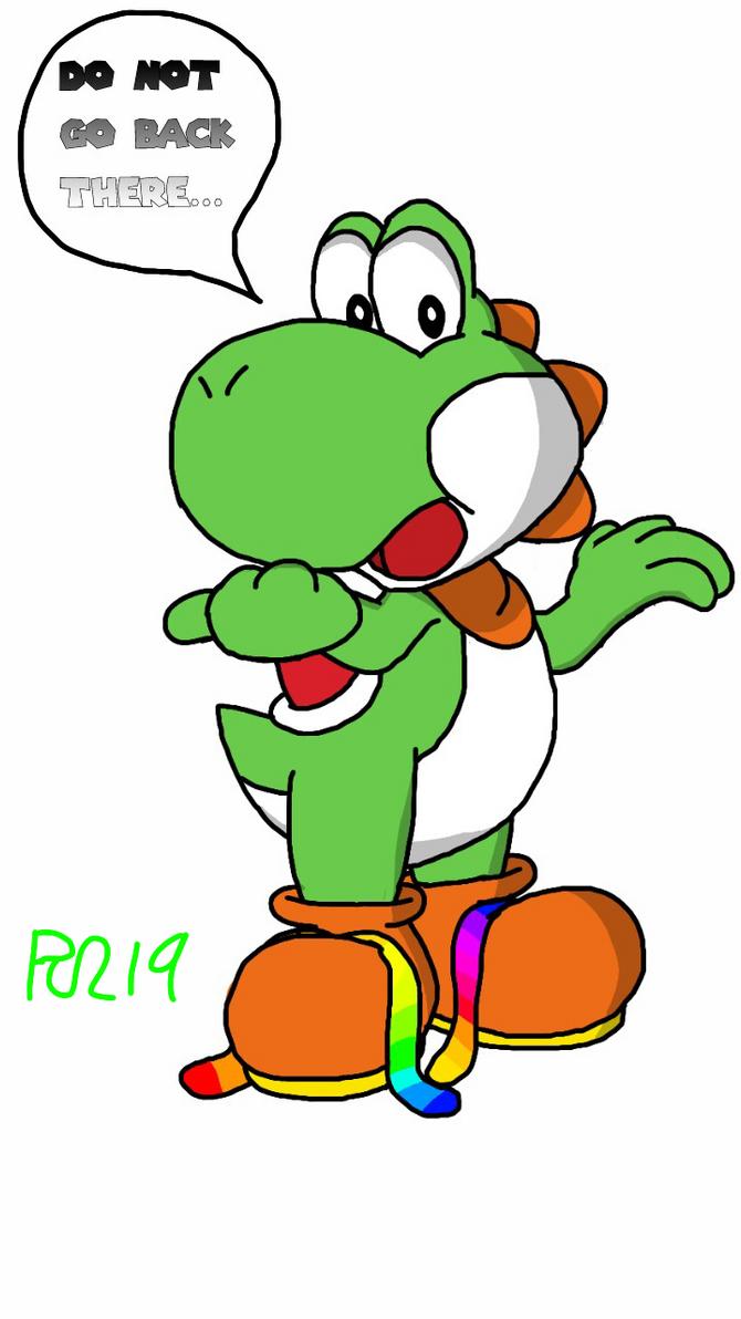 Greeny Yoshi giving out a warning...! by Greeny-Yoshi-RSL19