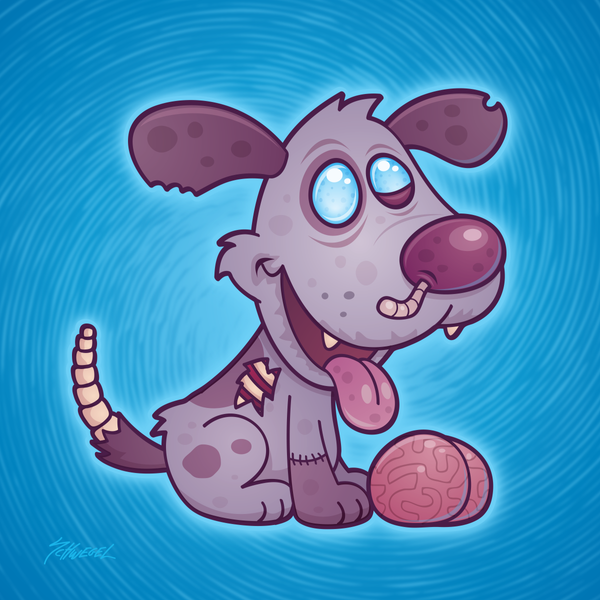 Zombie Puppy by fizzgig