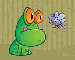 Frog and Dragonfly