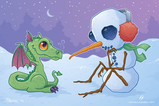 the snowman and the dragon