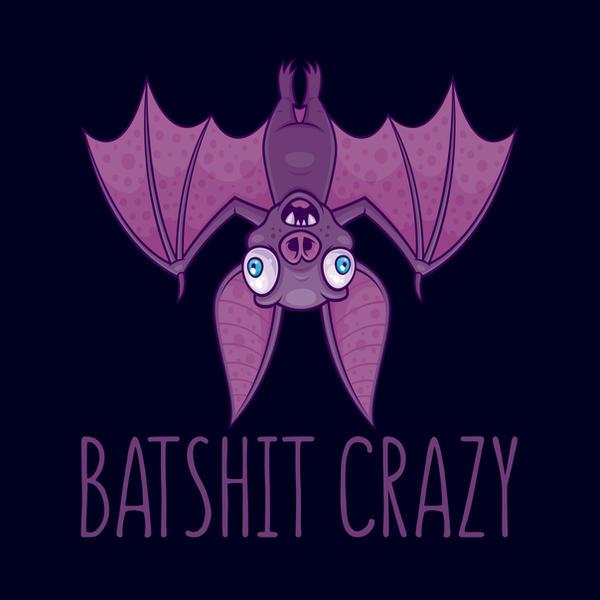 Batshit Crazy Wacky Cartoon Bat by fizzgig