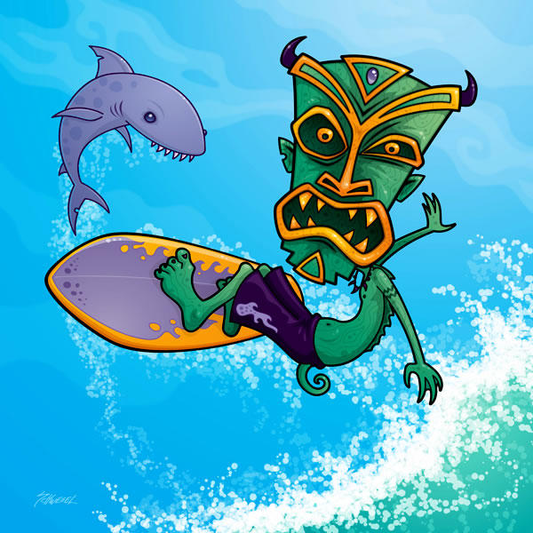 tiki surfer by fizzgig