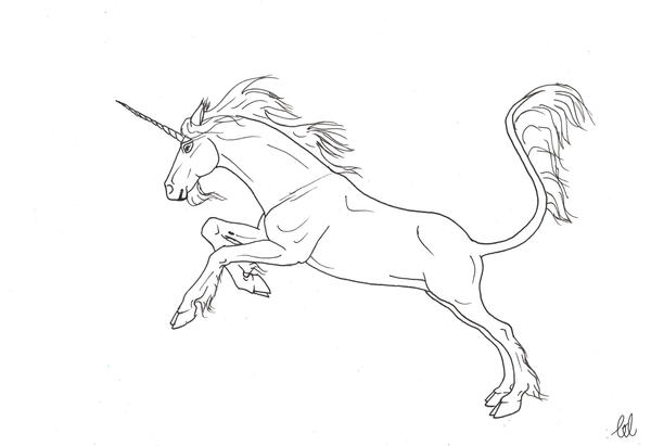 Line Art Unicorn : Leaping unicorn lineart by isleepawake on deviantart