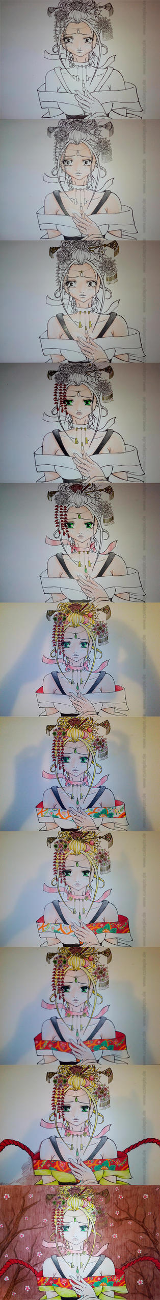 Cutiepix sad blonde Geisha by Cutiepix