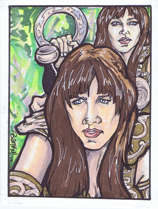 Xena warrior princess in color by bankyone on deviantart Xena coloring book