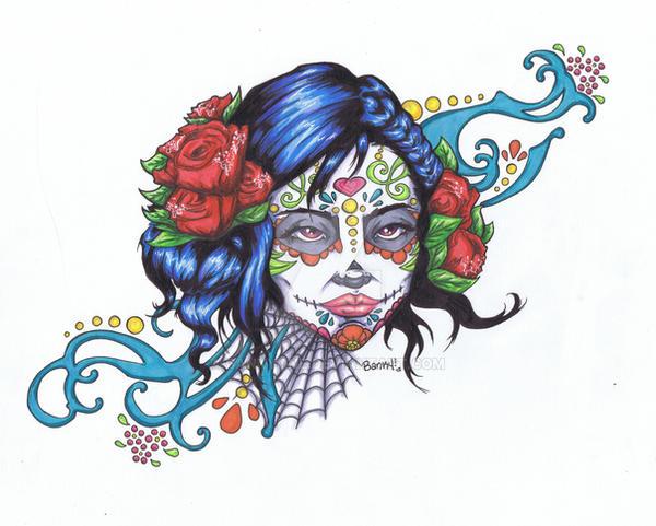 sugar skull color by bankyone