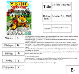 Movie Report Card: Garfield Gets Real by CyberFox