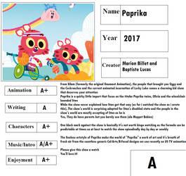 Cartoon Report Card: Paprika