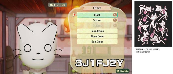 Gluestick (aka Cat Jammer) for Miitopia