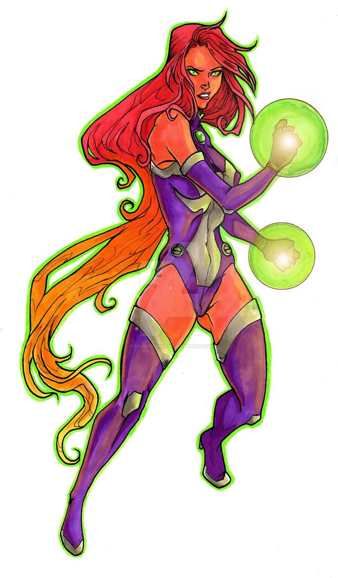 Teen Titans Starfire by GoblinGrimm1