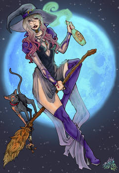 Witchy Pinup