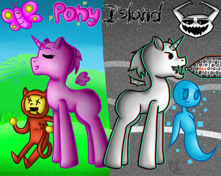Two Sides (Pony Island) by X-NamelessPerson-X
