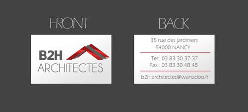 B2H Architectes Visit Card