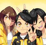 Three Sentai Yellow