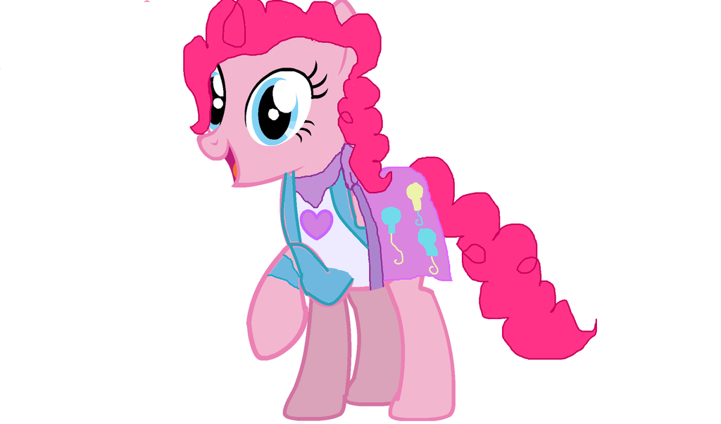pinkie pie with equestria girls dress by rainbowdash22100