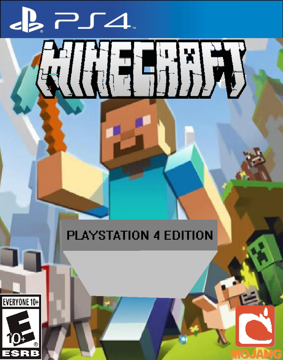 Ps4 Games Rated E : Minecraft playstation ps by djshby on deviantart