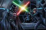 Darth Vader Vs Luke Skywalker (Poster)
