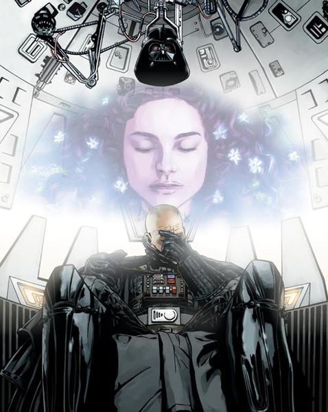 Vader's memory of Padme Amidala Poster by DryBowzillaJP