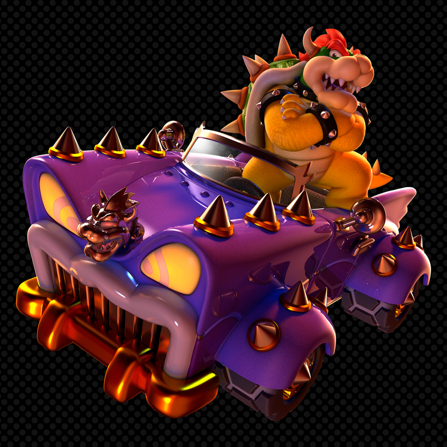 Super Mario 3d World Video Game Tv Tropes Kart Wii Luigi Circuit Games Dual Hd 3840x1080 Enormous Spike Covered Purple Wagon