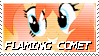 Flaming Comet Stamp by NovellaMLP