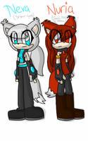 Neva and Nuria by rumythehedgehog