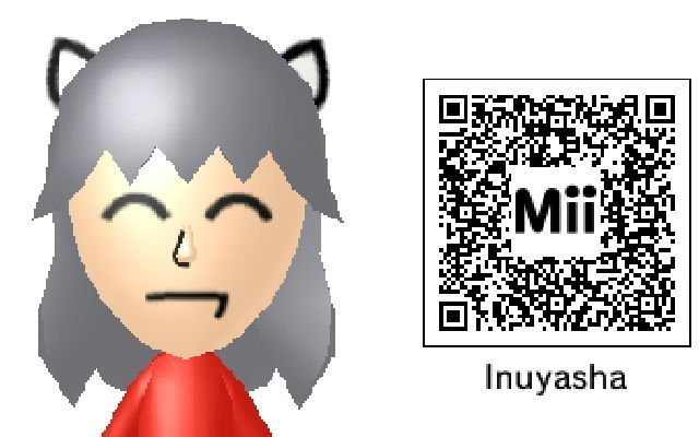 Anime Mii Characters 3ds : Inuyasha mii qr code by puppybroaustin on deviantart