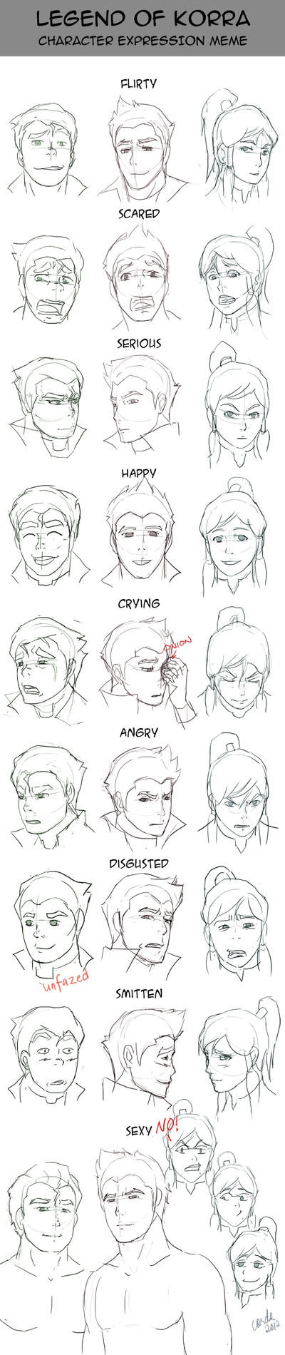 Legend of Korra - Expression Meme