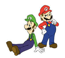 Those Two Italian Plumbers by EarthGwee