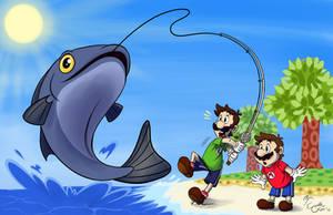 Luigi's Summer Catch by EarthGwee